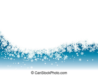 snow reveal - Snow flake background in blue with room for...