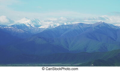 Snow Rocky Mountains Peaks of Caucasus range