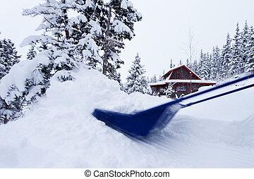 Snow scoop snow-removal blizzard winter snowfall