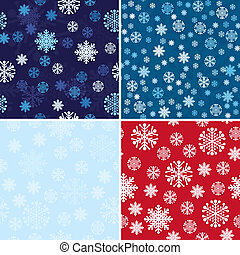 Snow Seamless Background Set