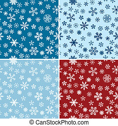 Snow Seamless Vector Backgrounds Set