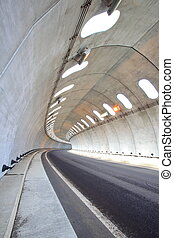 Snow shade - Concrete tunnel to protect from snow, Aomori,...