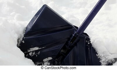 Snow shovel, isolated with a pan