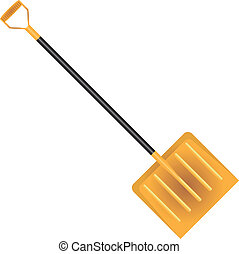 Snow Shovel - Wide plastic snow shovels. Vector...