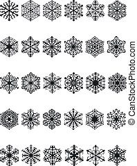 Snow Silouettes - Illustration of Snow Silouettes