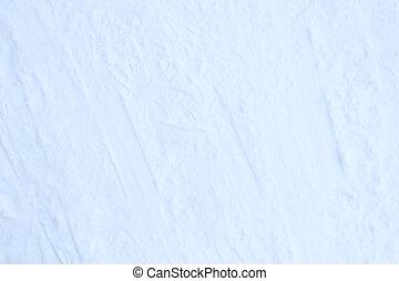 Snow skiing track surface. Ski trail texture. Ski run traces background.