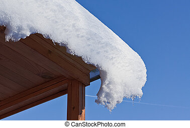 Snow slipping off roof