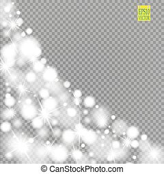 snow star glitter line on a transparent background vector illustration abstract snowflake