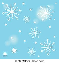 Snow star pattern light blue