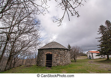 Snow stone storage house