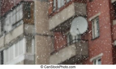 Snow storm in the City