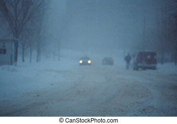 Snow Storm - Snow storm in the late afternoon causing near ...