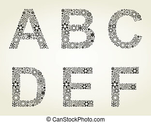 Snow the alphabet