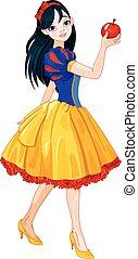 Snow White Girl - Pretty girl wearing Snow White costume