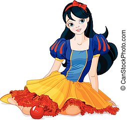 Snow White Girl  - Pretty girl wearing Snow White costume