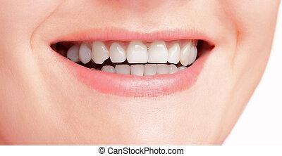 Snow-white smile