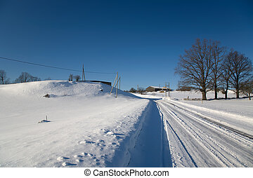 Snow Winter day