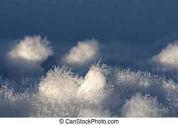 Snow with ice crystals