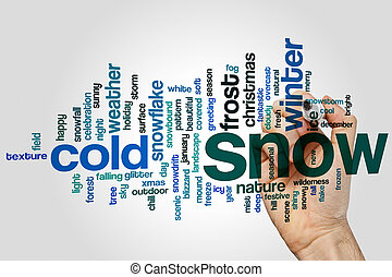Snow word cloud