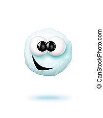 Snowball - A cartoon snowball.