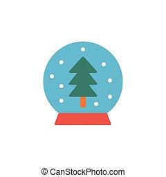snowball flat icon