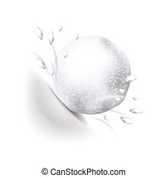 Snowball isolated on white vector - Snowball isolated on...