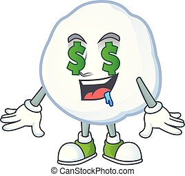Snowball with Money eye cartoon character design