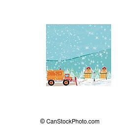 Snowblower on road