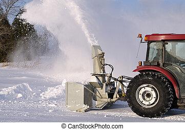 snowblower, traktor