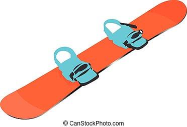 snowboard, ベクトル, 隔離された, 現実的, イラスト
