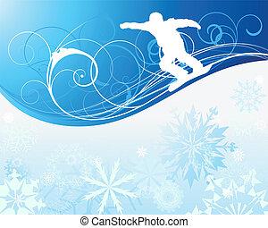 snowboard, achtergrond
