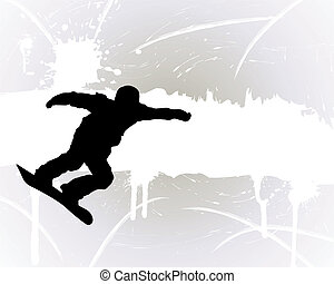 Snowboard background - Sport background with snowboard...