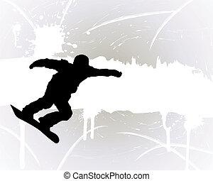 Snowboard background - Sport background with snowboard ...