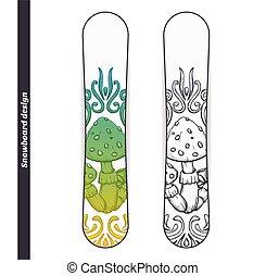 Snowboard Design Abstract Mushroom One - Design snowboard...