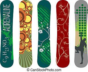 snowboard, design