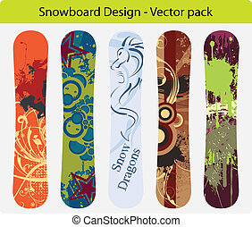 Snowboard design pack 16