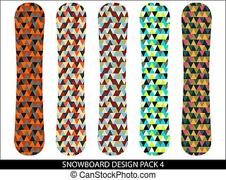Snowboard designs vector pack