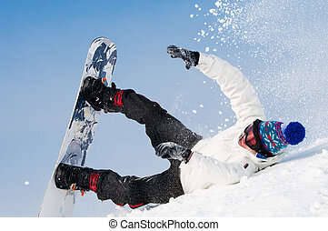 snowboard, fallender , extrem
