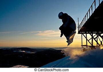 snowboard, freeride, sibérie