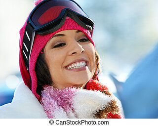 snowboard, girl