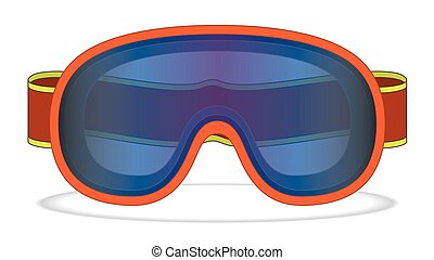 snowboard goggles - snowboard goggle isolated on a white...