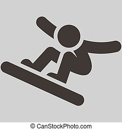 Snowboard icon - Winter sport icon - snowboard icon
