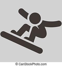 Snowboard icon - Winter sport icon - snowboard icon