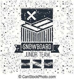 Snowboard junior team emblem