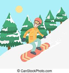 snowboard., man
