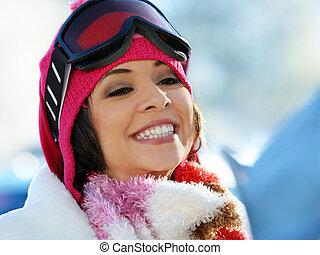 snowboard, niña