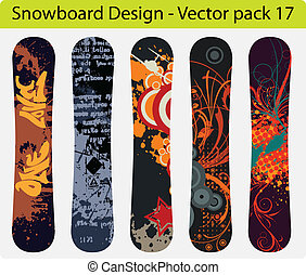 snowboard, pacco, 17, disegno