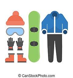 snowboard, pack., starter