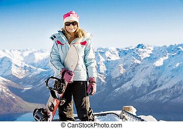 snowboard, ragazza
