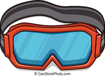 Snowboard ski goggles. - Winter sports element isolated on...